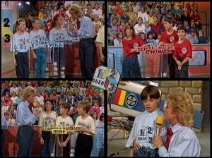 """die teams und das kamera-kind der sendung """"1, 2 oder 3"""" vom 9.1.1987"""