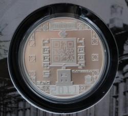 niederländische qr-code-münze